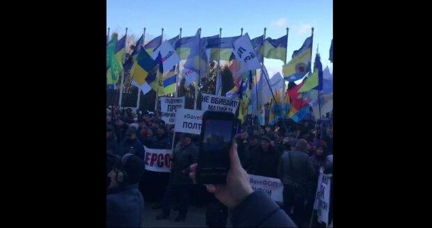 """Под окнами Зеленского разгорается масштабный бунт, медийщики не стерпели: """"В топку!"""""""