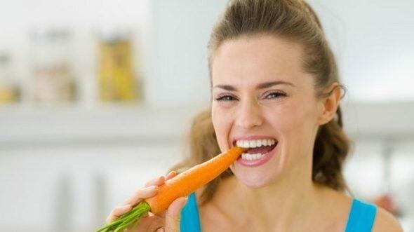 морковь, овощи, есть морковь