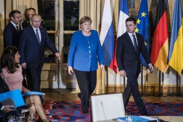 Зеленский, Путин, Меркель в Париже