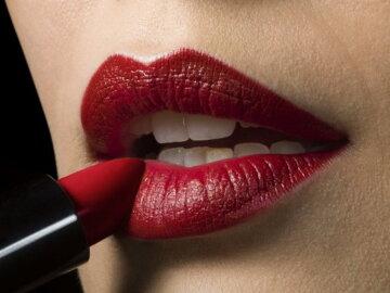 красные губы помада