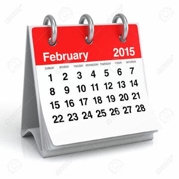 30389267-February-2015-Calendar-Stock-Photo
