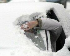 авто мороз зима снег