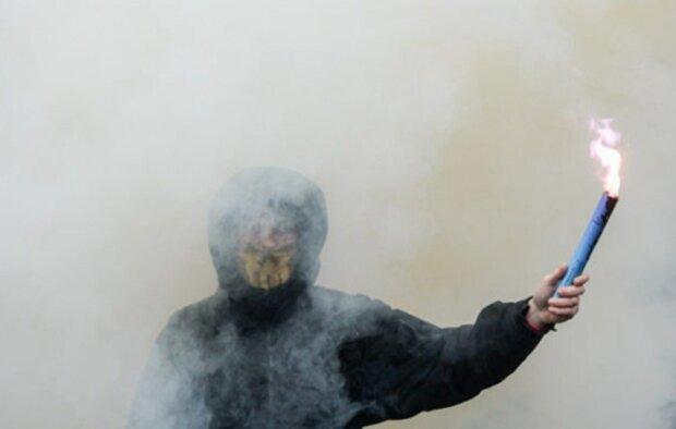 пикет, дым