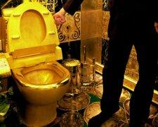 золотой унитаз роскошь