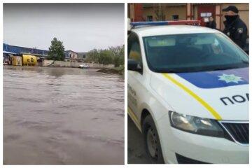 Новий потоп в Одесі: на відео показали, як патрульні викупали пішохода