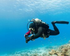 водолаз аквалангист