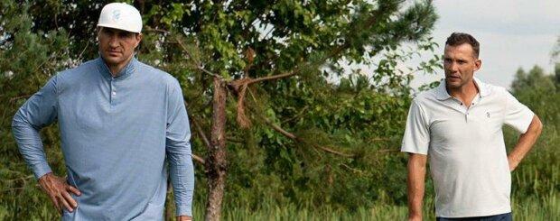 """Кличко, Усик и Шевченко нашли общее занятие и устроили соревнования, фото: """"Нужно укрепить..."""""""