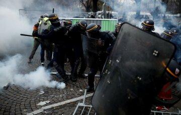 протесты, массовые беспорядки, париж
