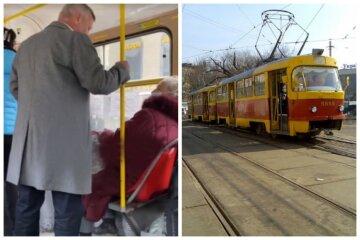 """В Одесі пасажири трамвая накинулися на пенсіонерку через українську мову, відео: """"Викинути її треба"""""""