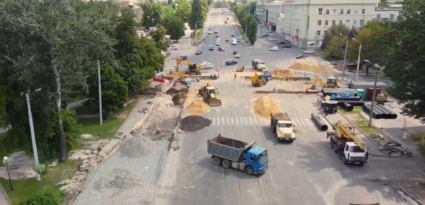Реконструкцию Московского проспекта в Харькове показали с высоты: что изменится к осени