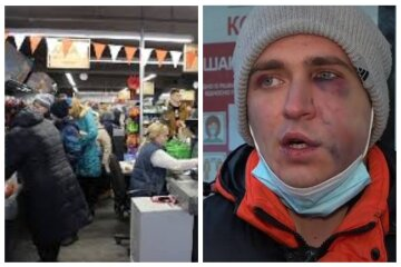"""Завели в помещение и избили"": в Одессе охрана супермаркета напала на покупателя, фото"