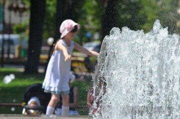 погода, лето, фонтан