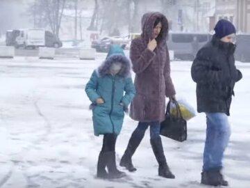 сніг, заметіль, вітер, шквали