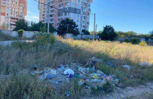 """Жителі Чорноморська перетворили околицю міста на смітник, фото: """"мільйона буде мало"""""""