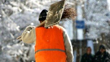 Киевские коммунальщики, фото: скриншот You Tube