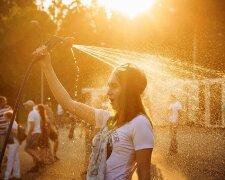 погода, лето, жара, девушка