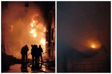 """Масштабна пожежа спалахнула на найбільшому ринку Харкова """"Барабашово"""": кадри і деталі вогняної НП"""