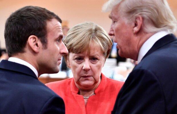 макрон, меркель, трамп