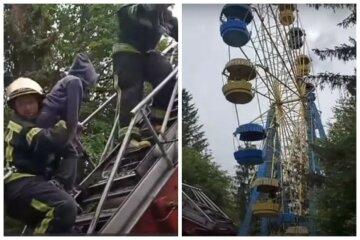 НП на Волині: 12 людей застрягли на 30-метровій висоті, деталі та кадри