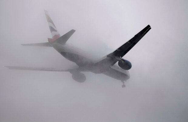 самолет туман