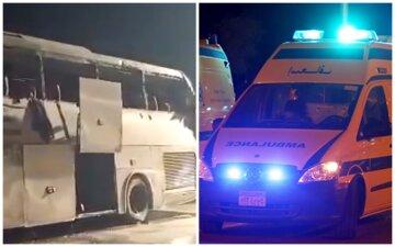 Автобус з пасажирами перекинувся в Єгипті, багато загиблих і поранених: деталі та кадри трагедії