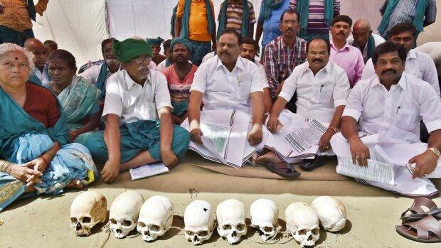 Чому індійські фермери принесли людські черепи на мітинг – фото