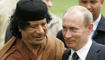 Каддафи Путин