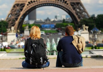 Париж-туристы