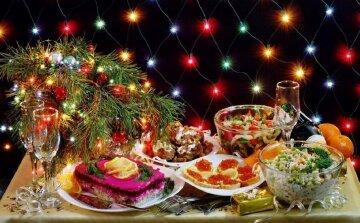 новый год, блюда, салаты