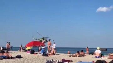 На одеському пляжі над відпочивальниками пролетіла військова техніка: Відео