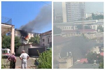 Огонь охватил многоэтажку, черный дым виден издалека: видео ЧП из курортной части Одессы