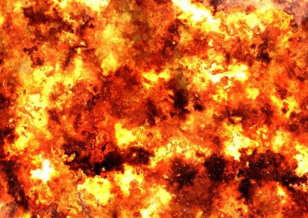 взрыв огонь пожар пламя