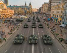 парад на день независимости, ВСУ, танки