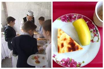 """Питание для школьников в Одессе вызвало негодование, кадры: """"Это как? Бананы по 68 грн"""""""