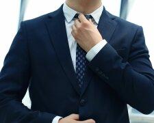 галстук, костюм, офис, работник