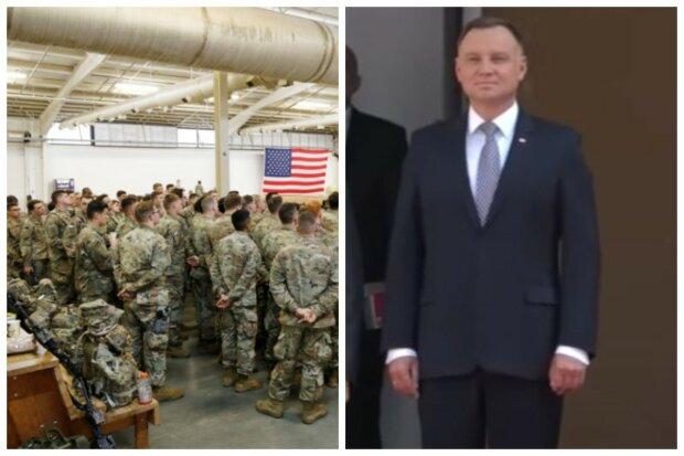 """США разместит мощную военную поддержку в Польше, заявление Дуды: """"Ответ на напористость России"""""""