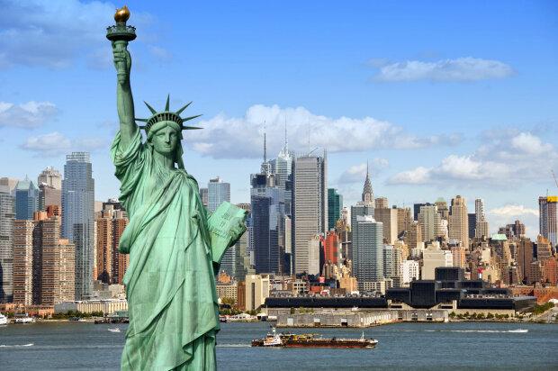 нью-йорк сша статуя свободы