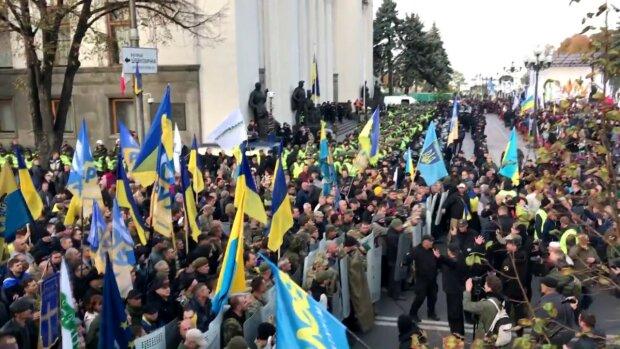 бунт под верховной Радой, митинг, толпа