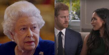 принц Гарри и Меган Маркл, королева Елизавета