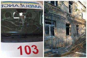 Больница попала под обстрел боевиков на Донбассе, внутри десятки людей: кадры с места