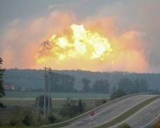 Калиновка, взрыв, огонь, боеприпасы