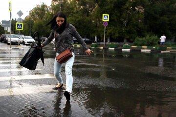 погода, дождь, лужи