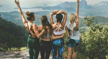 подруги, лето, отдых, горы, отпуск