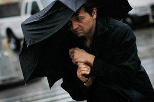 Зонт, злива, дощ, вітер