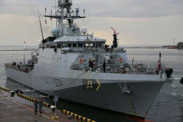 Новітній корабель НАТО зайшов у порт Одеси: з'явилося відео британського судна