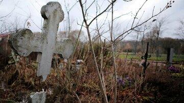 могила, крест, кладбище