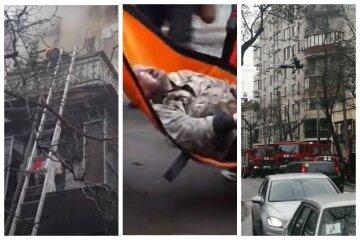 Старинный дом загорелся в центре Одессы: кадры пожара и что известно о пострадавших