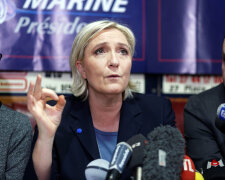 National Front Leader Marine Le Pen Campaigns In Lille
