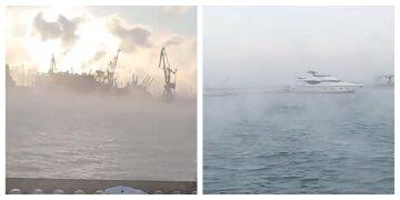 """В Одессе """"закипело"""" Черное море, жители делятся кадрами уникального явления: """"появился пар"""""""