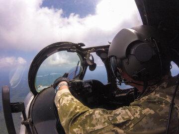 всу, военный самолет, летчик,